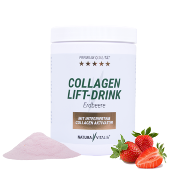 Collagen-Lift-Drink mit L-Lysin - Erdbeere